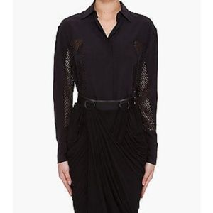 Alexander Wang perforated silk blouse